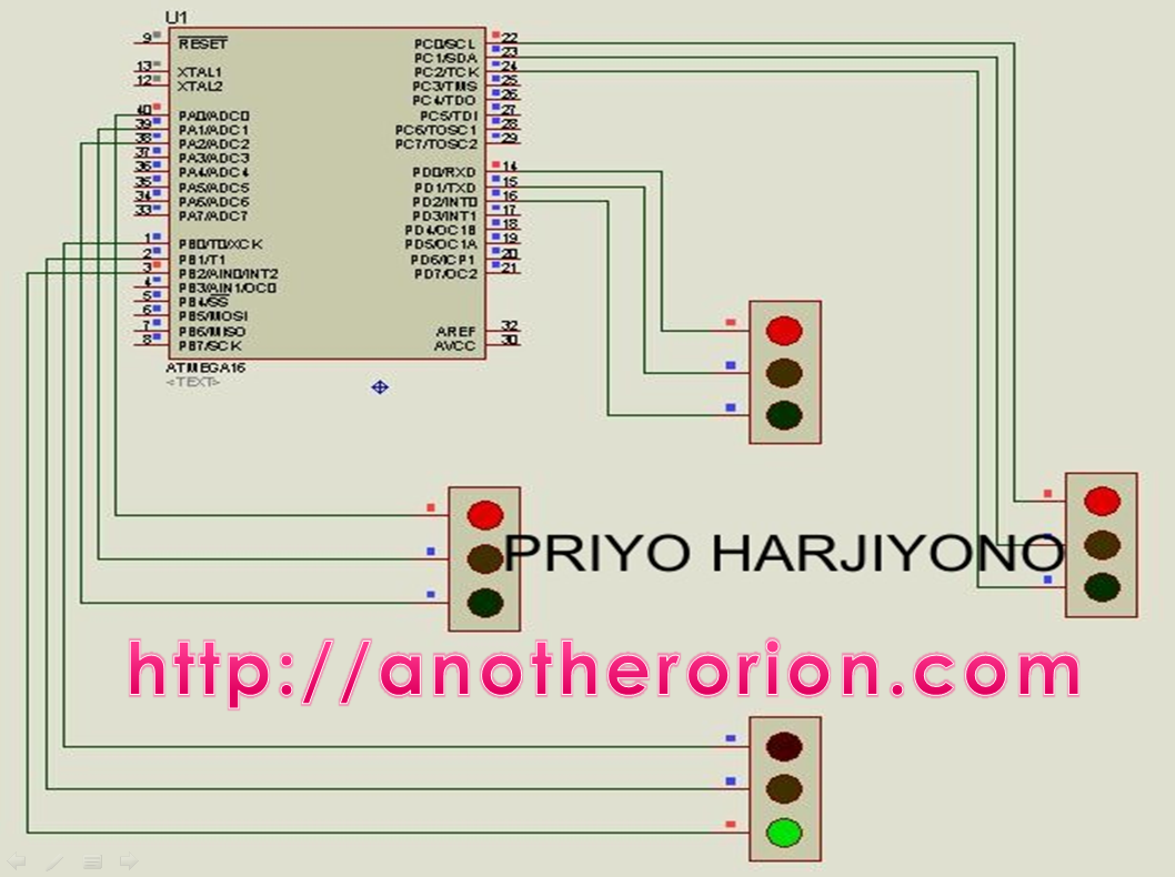 Membuat Traffic Light Dengan Codevision Avr  1