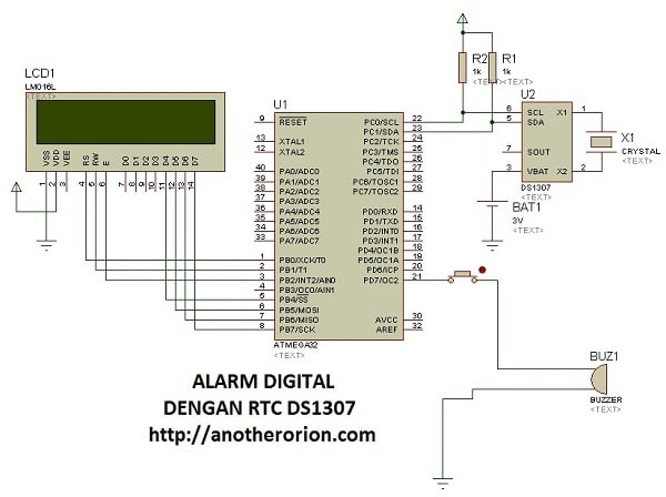 alarm digital codevisionAVR
