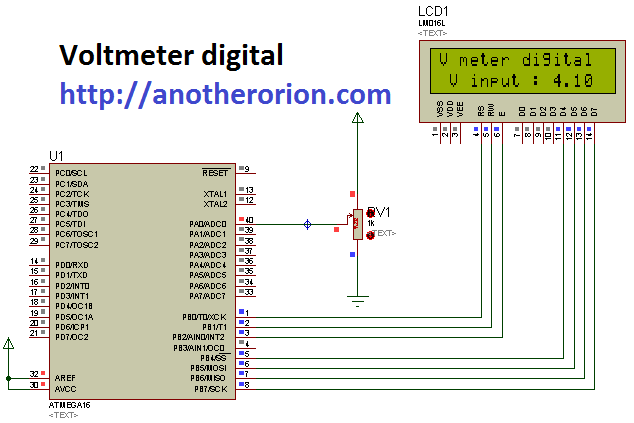 voltmeter-digital Codevision: Voltmeter digital dengan ADC  wallpaper