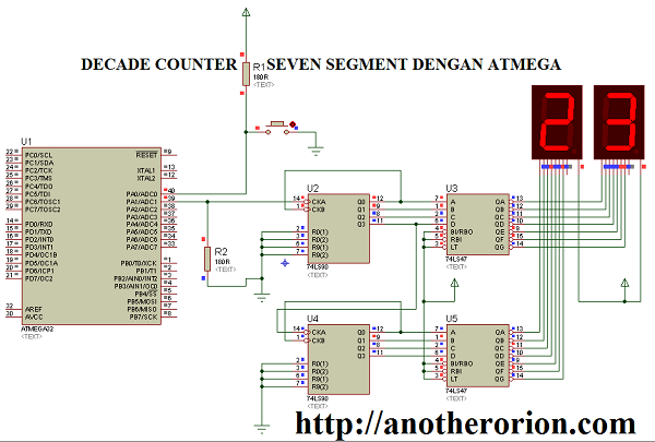 decade counter atmega