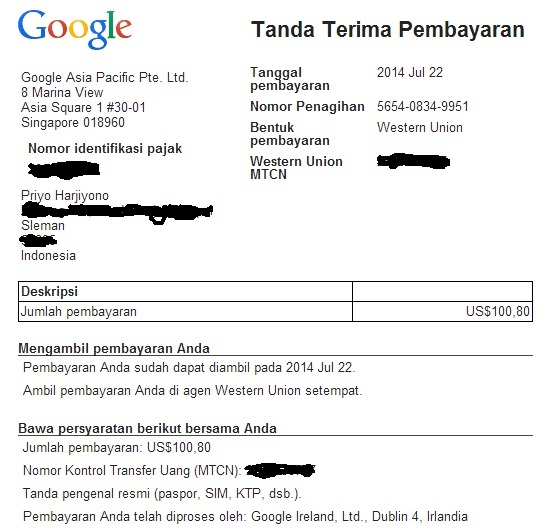 pembayaran-adsense-via-western-union THR van Google  wallpaper