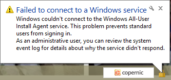 fail windows service