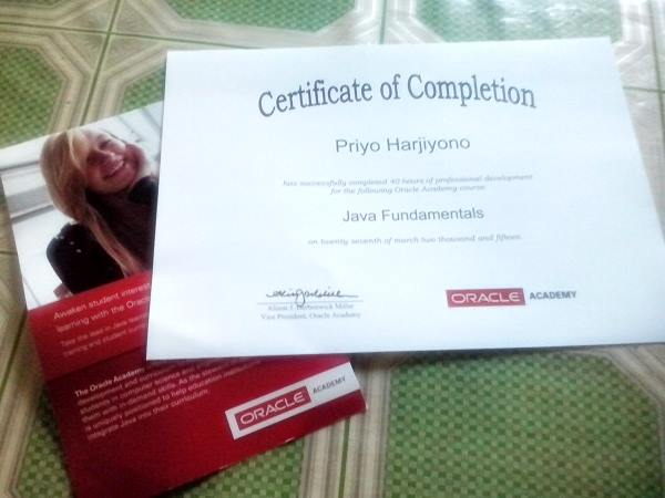 oracle academy certificate java fundamental anotherorion