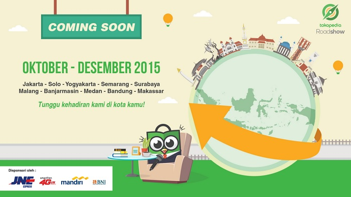 Kota-peserta-Tokopedia-Roadshow-2015 Polkadot Isi Pisang di event Tokopedia Roadshow  wallpaper