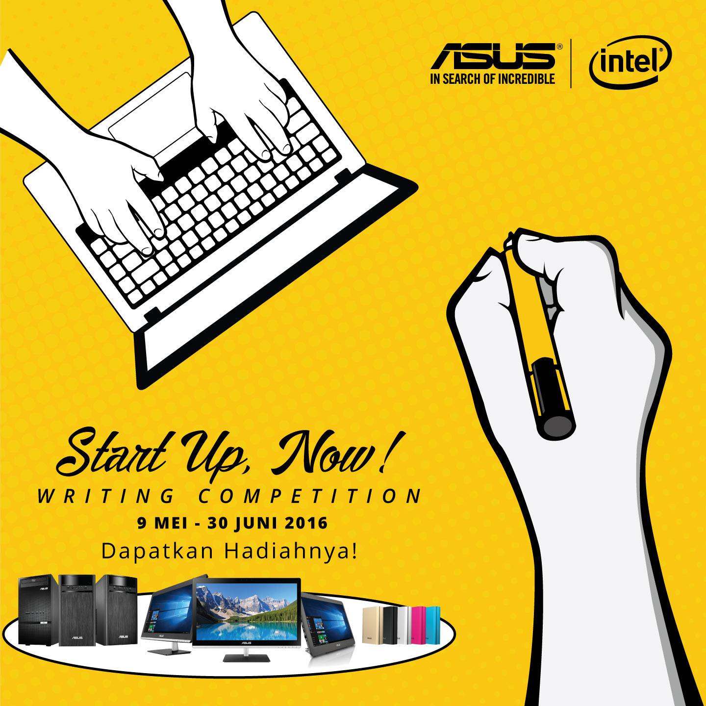 ASUS StartUp Now Writing Competition - Banner