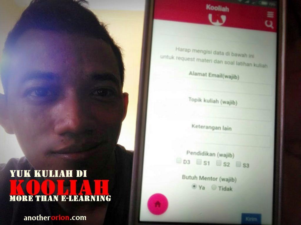 applikasi elearning mahasiswa perguruan tinggi kooliah