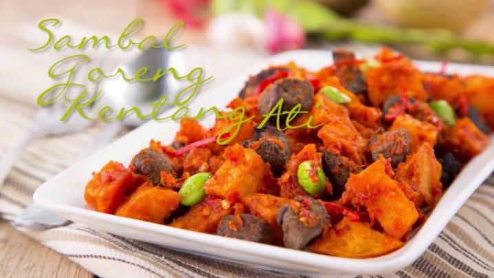 menu masakan lebaran alternatif sambal goreng kentang ati