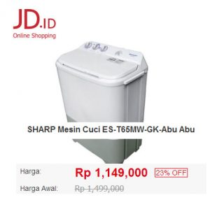 mesin cuci sharp jd id