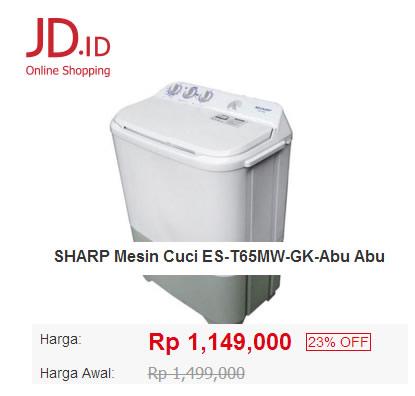 <span class='p-name'>Beli Mesin Cuci Sharp di JD.ID, Murah dan Hemat!</span>