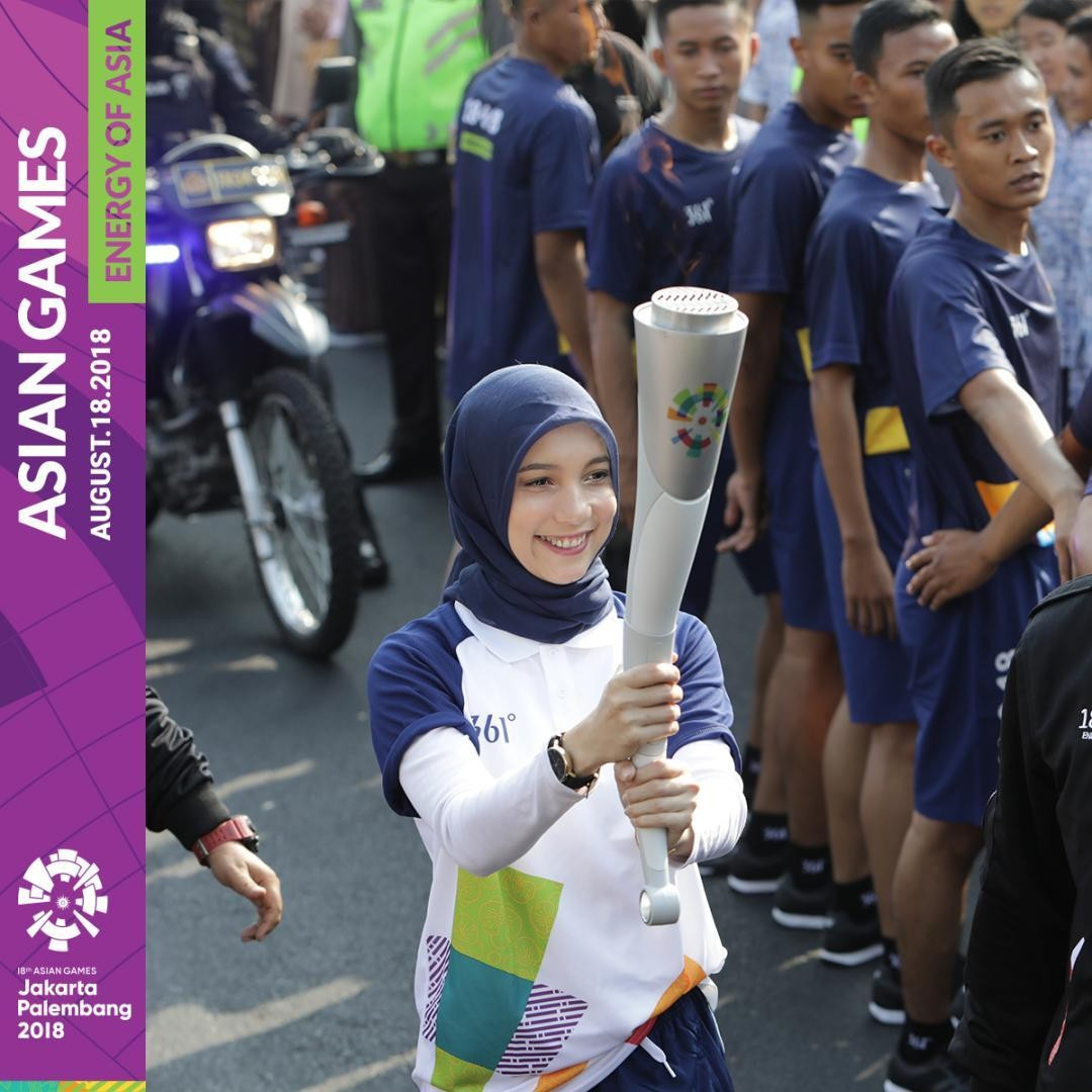 Torch Relay Asian Games Jogja