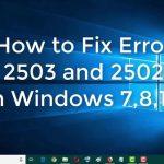 Mengatasi error 2503 called runscript when not marked in progress