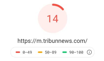 skor pagespeed google page insight tribunnews