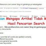 Penyebab Artikel Tidak Muncul di Hasil Pencarian Search Engine Google